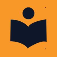 black book on a orange background