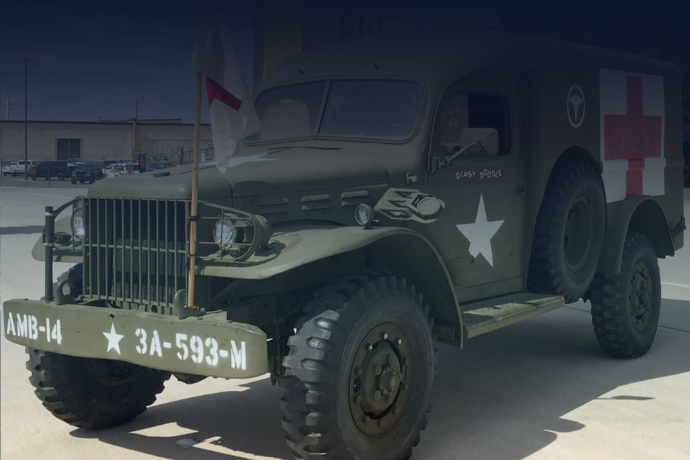olive green medical military vehicle